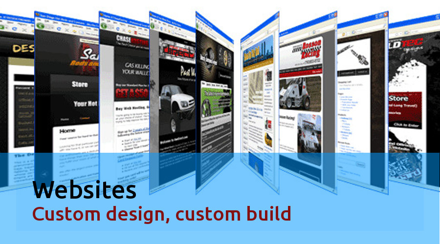 Websites, Custom design, custom build