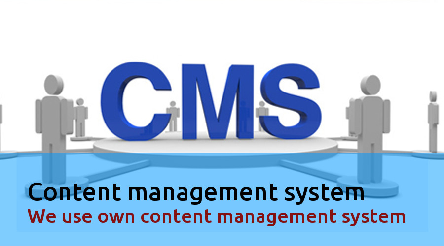 CMS, We use our own content management system